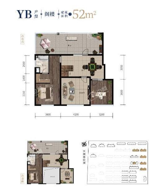 西江月洋房阁楼52平2室1厅1卫