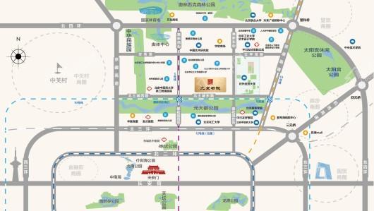 北京书院交通图