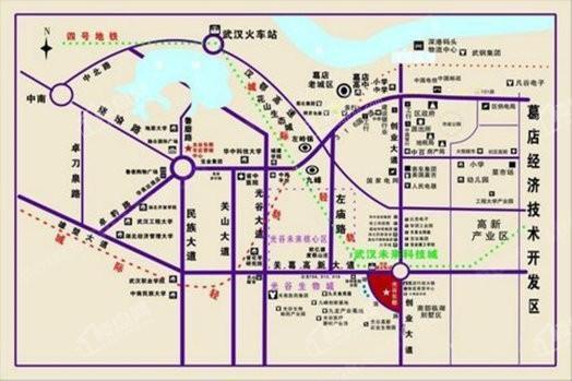 光谷东郡位置图
