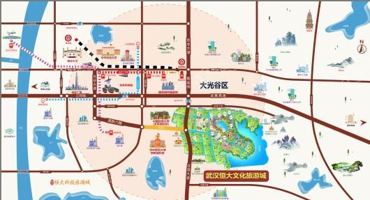 武汉恒大文化旅游城交通图