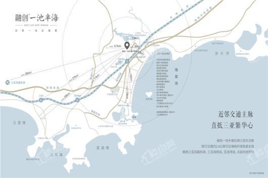 融创一池半海交通图