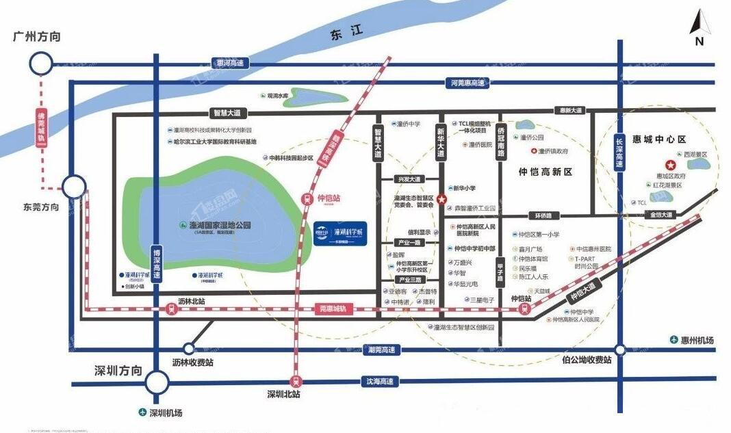 碧桂园潼湖科技小镇·科学城位置图