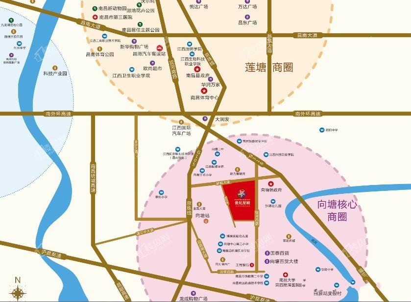 世纪星城位置图