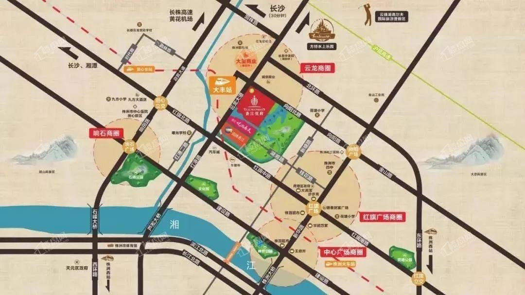 香江悦府位置图