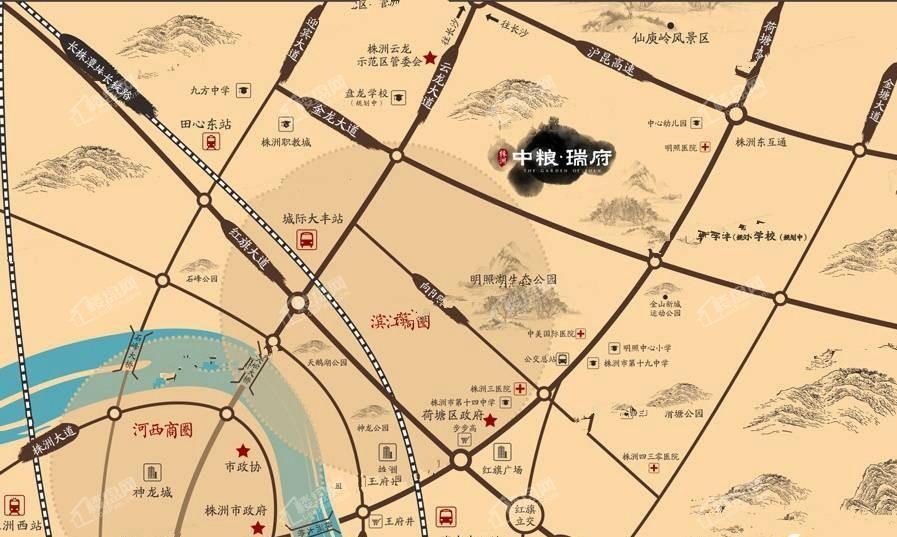 中粮瑞府位置图