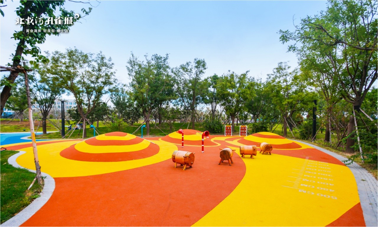 北戴河孔雀城公园海实景图