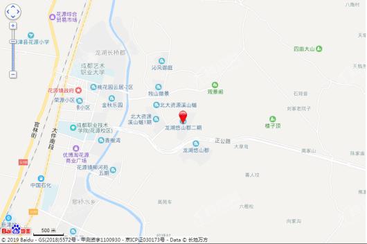 龙湖悠山郡千山新屿交通图