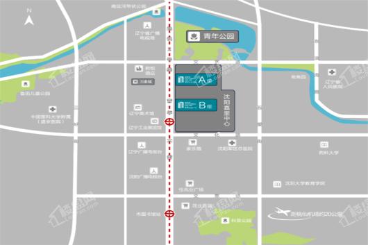 嘉里企业广场B座交通图