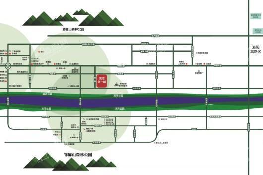 绿景·滨河又一城交通图