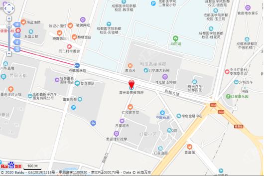 蓝光爱普雍锦府交通图