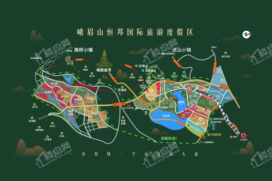 还山小镇·悦山府组团交通图