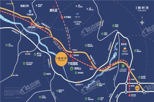 京北橡树湾交通图