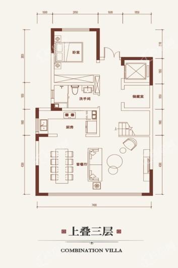 金悦府上叠三层 3室6厅4卫1厨
