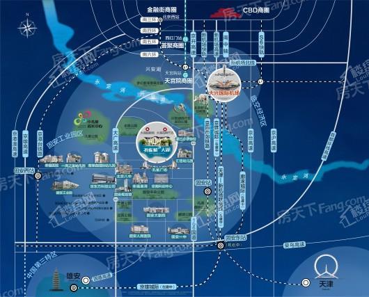 孔雀城大湖交通图
