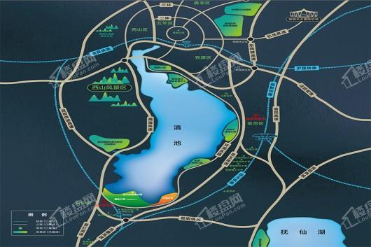 滇池南湾未来城交通图