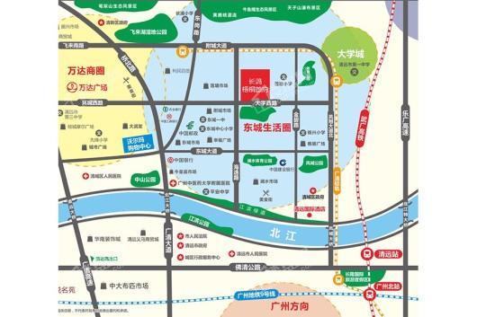 长鸿梧桐首府交通图