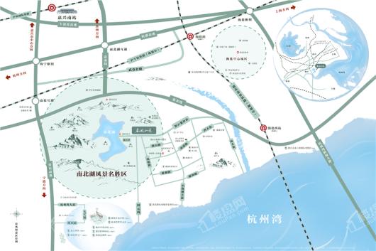 蓝城·春风如意交通图