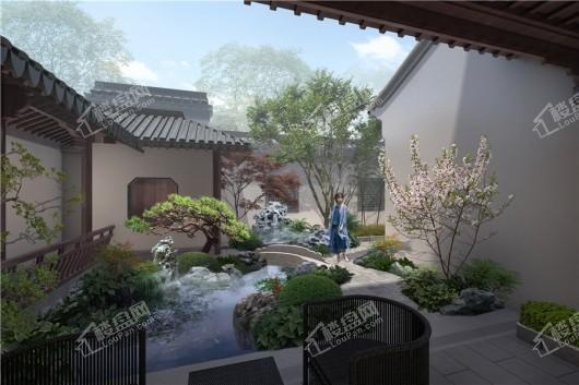 蓝城·春风如意庭院景观