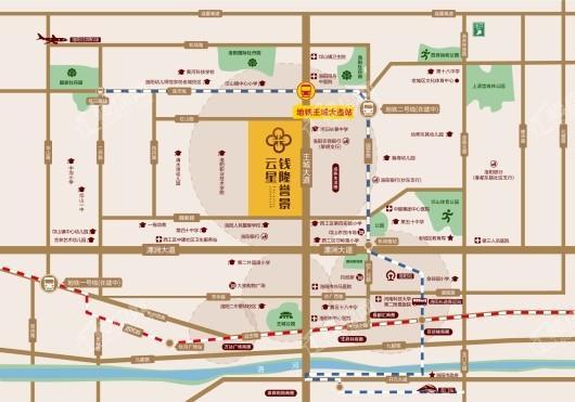 云星钱隆誉景交通图
