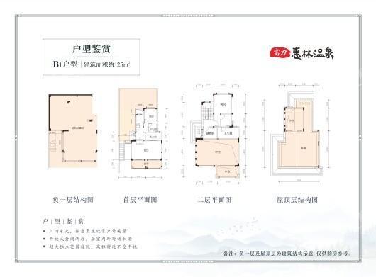富力惠林温泉户型图