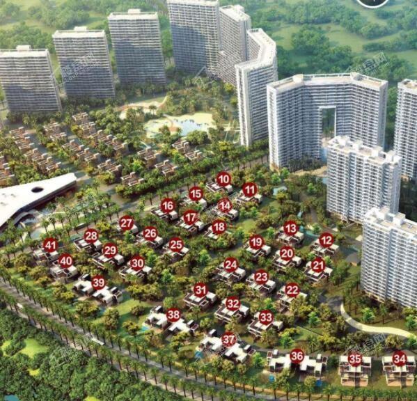 中信国安·北海第一城第二块地鸟瞰图
