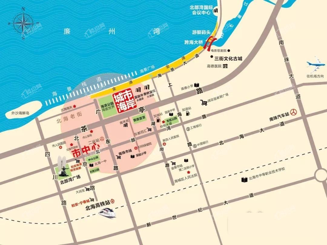 强盛·城市海岸区位图