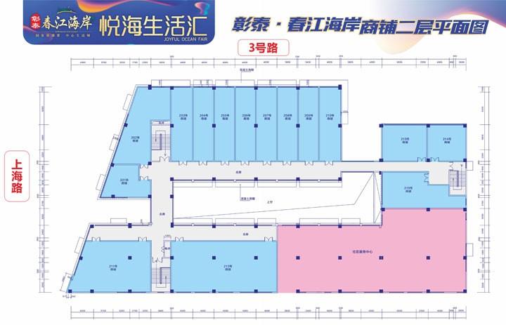 彰泰春江海岸商铺户型图2