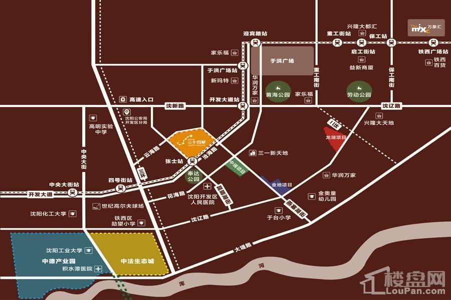 华润置地二十四城区位图