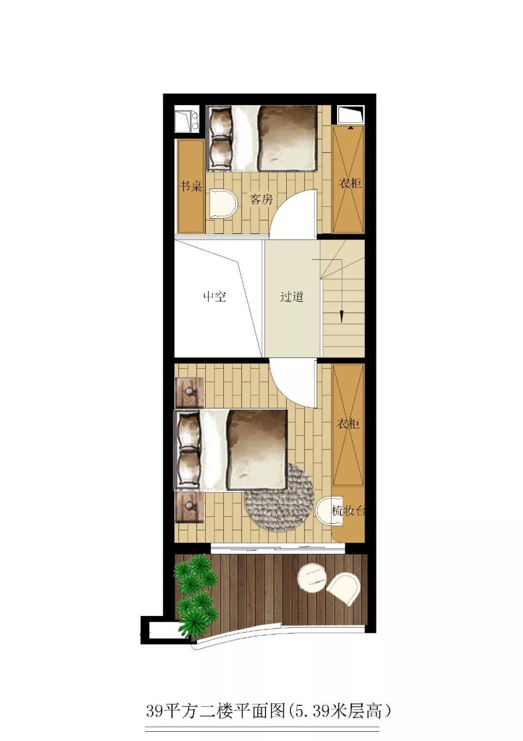 洱海福门公寓39平户型图