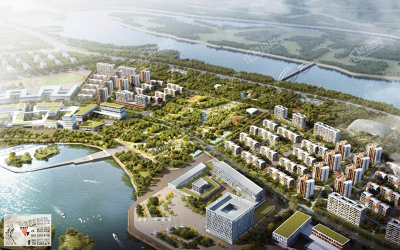 白沙岛金融生态小镇鸟瞰图