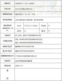 中昂天玥府取得金预售许字(2019)第40号预售证