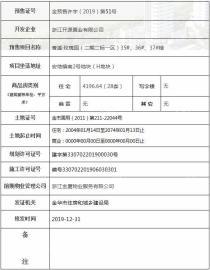 香溪·玫瑰园28套住宅取得金预售许字(2019)第51号预售证
