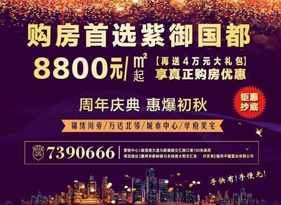 购房就选紫御国都,8800元/平米起