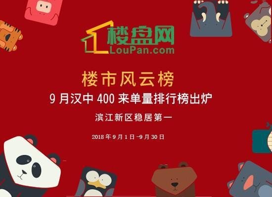 9月汉中400来电量排行榜出炉!滨江新区稳居第