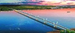 中俄首座跨界河铁路大桥中方段完工