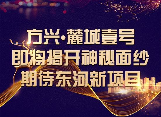 方兴•麓城壹号即将揭开神秘面纱 期待东河新项目