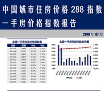 中国城市住房价格 288 指数一手房价格指数报告