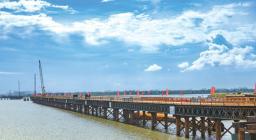 投资9.4亿元的西村港跨海大桥建设顺利,主栈桥预计8月15日贯通!