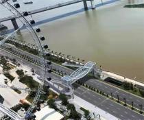 预计明年上半年完工!泉州东海泰禾过街天桥正式动工