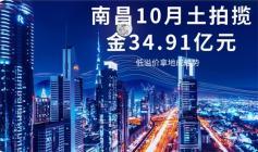 南昌10月土拍揽金34.91亿元!低溢价拿地成趋势
