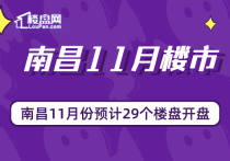 【楼盘网早报2019.11.01】南昌11月份预计29个楼盘开盘