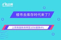 【楼盘网早报2019.11.13】上周南昌新房网签1056套跌4%