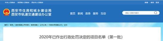 2020年首批行政处罚:西安凤城·御井园无证售房罚款160万