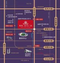 河西紫辉时代广场板块配套情况_紫辉时代广场配套介绍