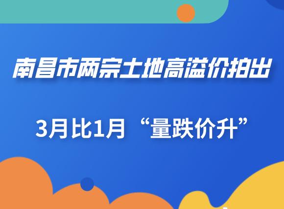 """南昌市两宗土地高溢价拍出 3月比1月""""量跌价升"""""""