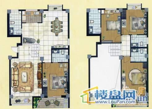 城市晶典 复式 4室2厅3卫1厨