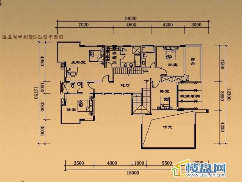 溢盈海岸E-2a户型二层7室2厅5卫1厨