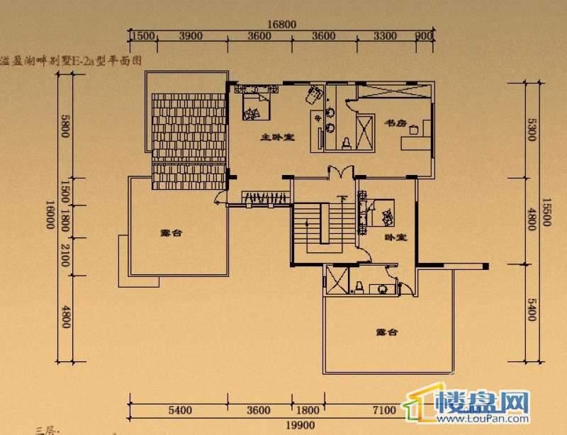 溢盈海岸E-2a户型三层7室2厅5卫1厨