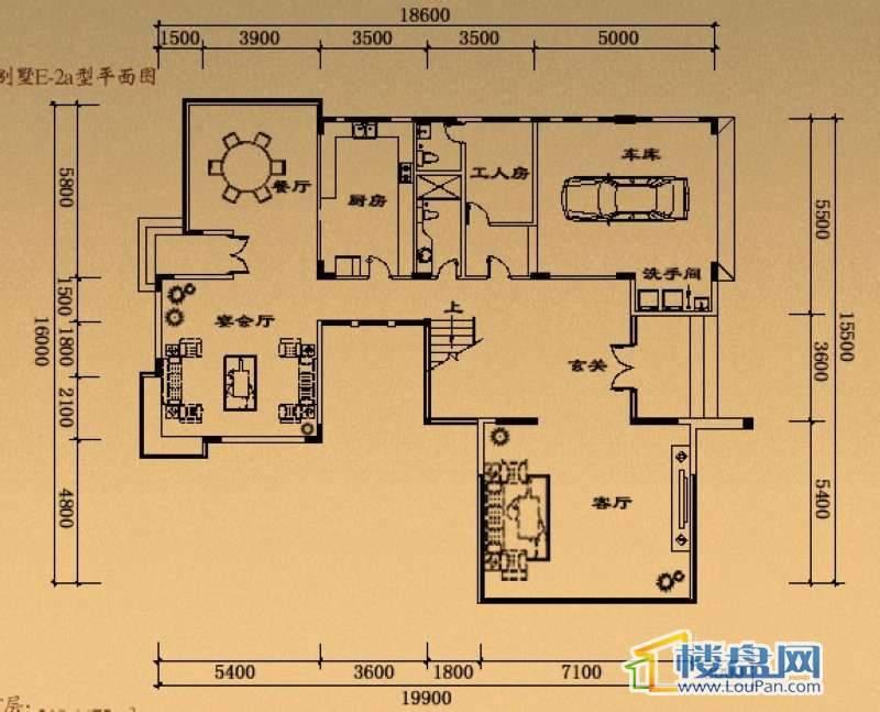 溢盈海岸E-2a户型首层7室2厅5卫1厨