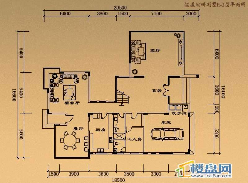 溢盈海岸E-2户型首层4室2厅5卫